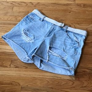 Ripped Jean Shorts💙